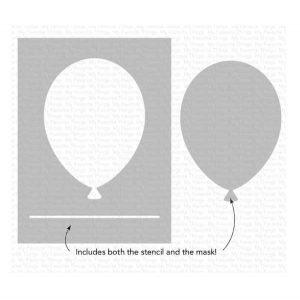 My Favorite Things Big Balloon Stencil