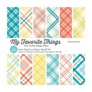 "My Favorite Things Party Plaid Paper Pad - 6"" x 6"""