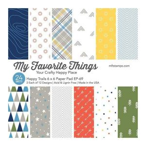 "My Favorite Things Happy Trails Paper Pad - 6"" x 6"""