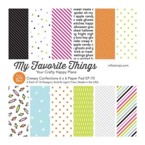 "My Favorite Things Creepy Confections Paper Pad - 6"" x 6"""