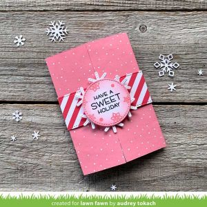 Lawn Fawn Shutter Card Holiday Sayings Stamp class=