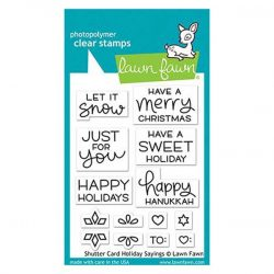 Lawn Fawn Shutter Card Holiday Sayings Stamp