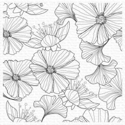 My Favorite Things Loosely Lined Flowers Background