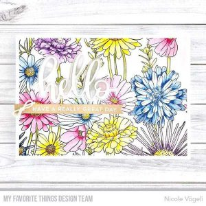 My Favorite Things Flower Field Background Stamp class=