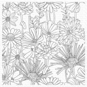 My Favorite Things Flower Field Background Stamp