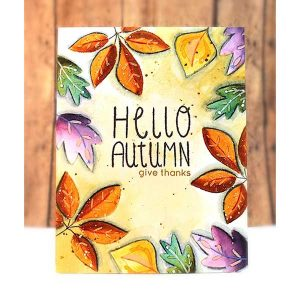 Penny Black Falling Leaves Stamp Set class=