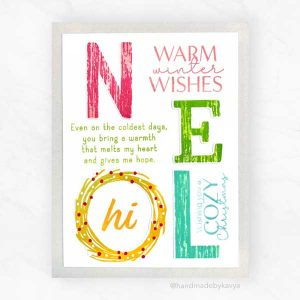 Papertrey Ink Just Sentiments: Warmth Mini Stamp Set class=