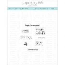 Papertrey Ink Just Sentiments: Warmth Mini Stamp Set