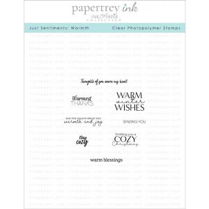 Papertrey Ink Just Sentiments: Warmth Mini Stamp Set