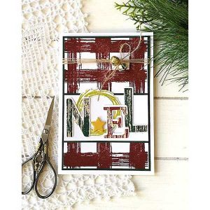 Papertrey Ink Brushed Plaid Stamp Set class=