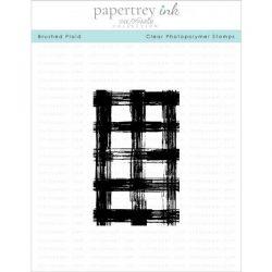 Papertrey Ink Brushed Plaid Stamp Set