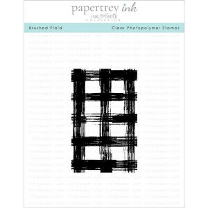 Papertrey Ink Brushed Plaid Stamp Set