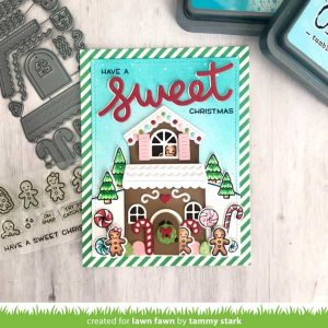 Lawn Fawn Build-A-House Gingerbread Add-On Lawn Cuts class=