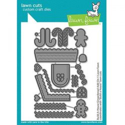 Lawn Fawn Build-A-House Gingerbread Add-On Lawn Cuts