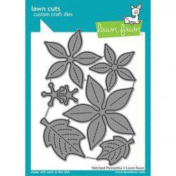 Lawn Fawn Stitched Poinsettia Lawn Cuts