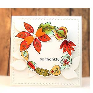 Penny Black Falling Leaves Cut-outs class=