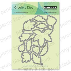 Penny Black Falling Leaves Cut-outs
