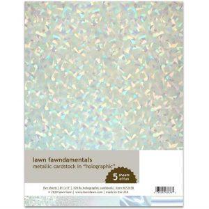 Lawn Fawn Metallic Cardstock – Holographic