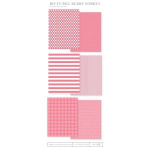 Papertrey Ink Bitty Big Paper Collection: Berry Sorbet