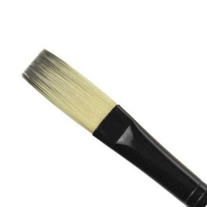 Black Silver Short Handle Brush - Stroke 1/2 class=