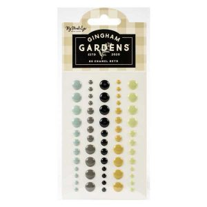 My Mind's Eye Gingham Gardens Enamel Dots
