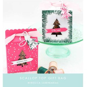 Papertrey Ink Scallop Top Gift Bag class=