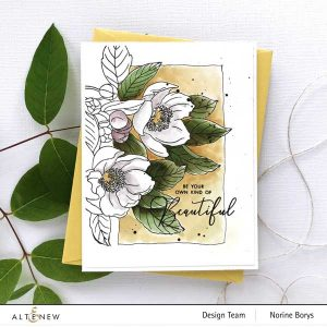 Altenew Paint-A-Flower: Paeonia Japonica Outline Stamp Set class=