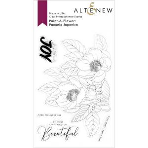 Altenew Paint-A-Flower: Paeonia Japonica Outline Stamp Set