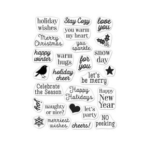 Hero Arts Hero Greetings Christmas Messages Stamp