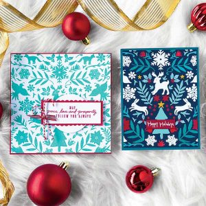Hero Arts Nordic Holiday Bold Prints Stamp class=