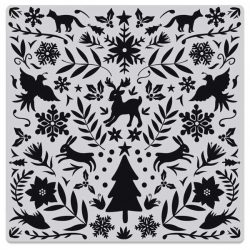 Hero Arts Nordic Holiday Bold Prints Stamp