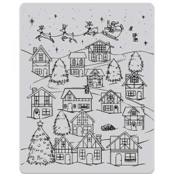 Hero Arts Winter Village Peek-A-Boo Stamp