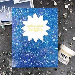 Hero Arts Snowflake Swirl Bold Prints Stamp class=