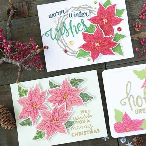 Hero Arts Color Layering Poinsettia class=