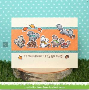 Lawn Fawn Let's Go Nuts Stamp Set class=