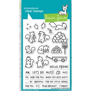 Lawn Fawn Let's Go Nuts Stamp Set