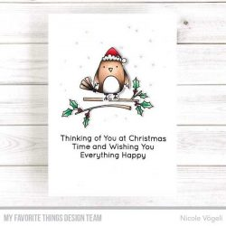 My Favorite Things Christmas Cardinals Stamp
