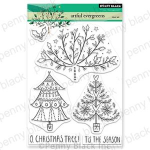 Penny Black Artful Evergreen Stamp Set