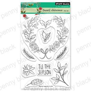 Penny Black Heart Christmas Stamp Set