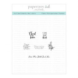 Papertrey Ink Just Sentiments: He is Born Mini Stamp