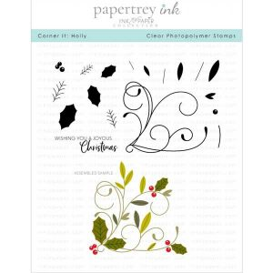 Papertrey Ink Corner It: Holly Stamp Set