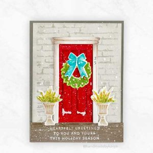 Papertrey Ink Holiday Door Decor Stamp class=