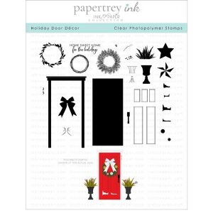 Papertrey Ink Holiday Door Decor Stamp