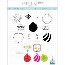 Papertrey Ink Ornament Greetings Stamp