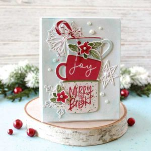 Papertrey Ink Festive Mugs Stamp class=