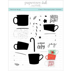 Papertrey Ink Festive Mugs Stamp