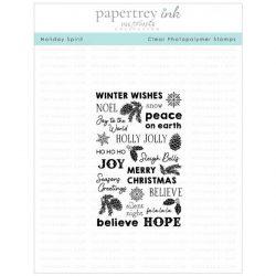 Papertrey Ink Holiday Spirit Stamp