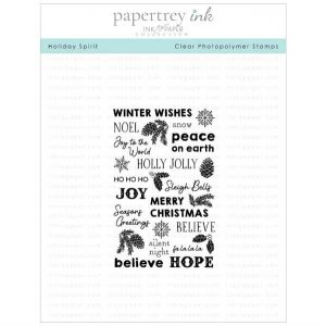 Papertrey Ink Holiday Spirit Stamp