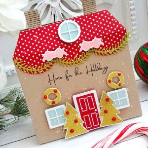 "Papertrey Ink Holiday House Stamp <span style=""color:red;"">Reserve – more on the way</span> class="