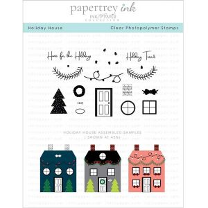 "Papertrey Ink Holiday House Stamp <span style=""color:red;"">Reserve – more on the way</span>"
